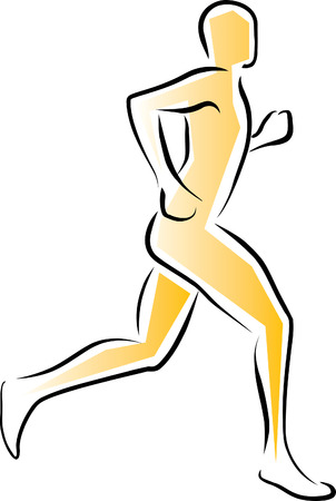 Runner - sprinting Illustration