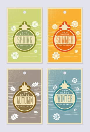 Retro vintage labels - editable images Vector