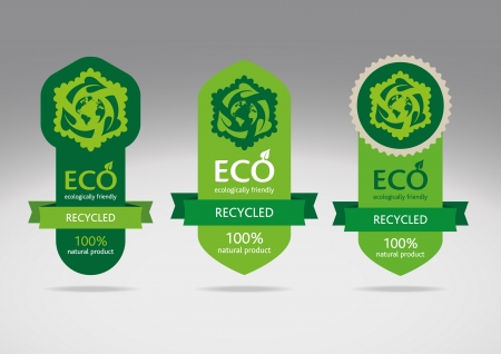 Eco recycle labels - editable images Stock Vector - 14474553