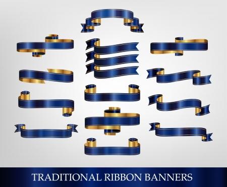 ruban or: Blue Collection Ruban Banni�re - illustrations