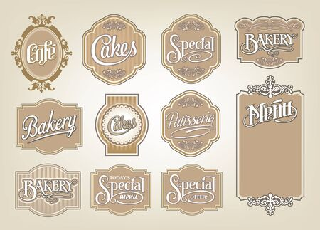 calligraphic vector sign and label design set Stock Vector - 17659138