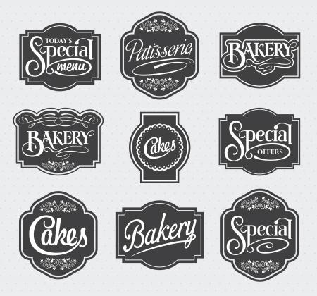 виньетка: каллиграфический знак и дизайн этикетки набор