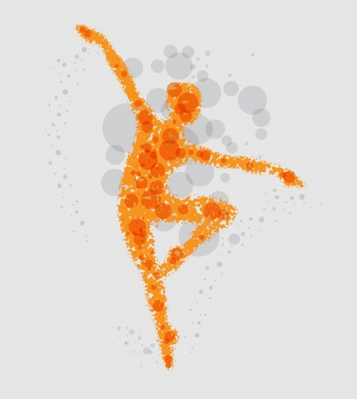 abstract dance: Abstract dancer illustration Illustration
