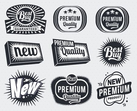Illustration - Vintage Badge labels