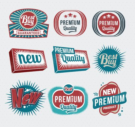 Illustration - Vintage Styled Premium Quality labels Stock Vector - 17659148