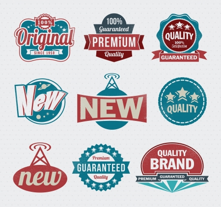 Illustration - Vintage Styled Premium Quality labels