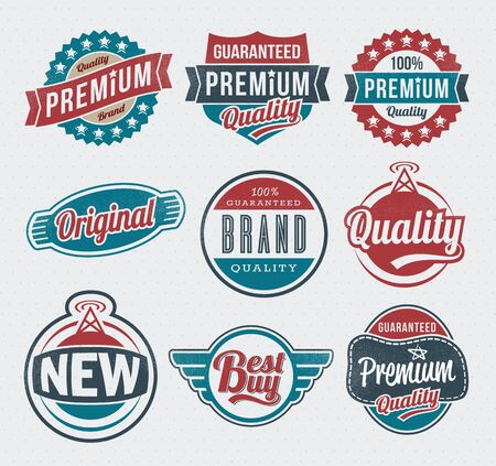 Illustration - set: vintage labels Stock Vector - 17659114