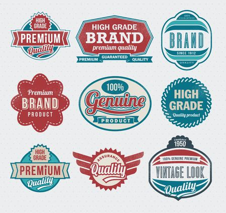 Illustration - retro style vintage labels Stock Vector - 17659118