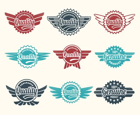 Illustration - retro style vintage labels Stock Vector - 17659106