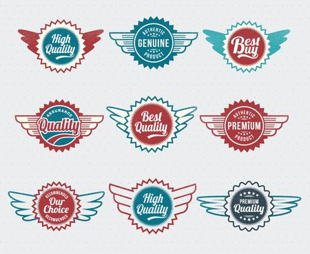 Illustration - Retro vintage style label set Stock Vector - 17659113