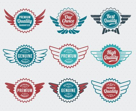 Illustration - Retro vintage style label set Stock Vector - 17659108
