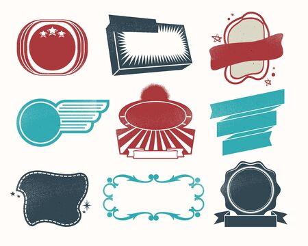 Illustration - Retro vintage style label set Stock Vector - 17659137