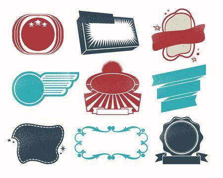Illustration - Retro vintage style label set Stock Vector - 17659137