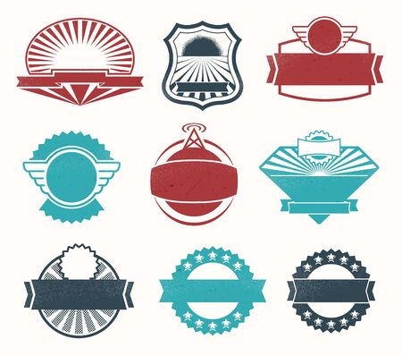 Illustration - Retro vintage style label set Stock Vector - 17659123