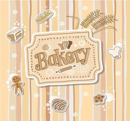 bakery sign: Ilustraci�n - Hand-Drawn Sketchy Entrar Panader�a Doodle