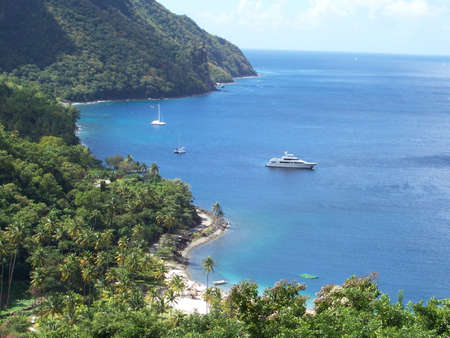 lucia: Grand Bay, St Lucia Stock Photo