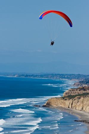 paraglider: Paraglider over San Diego