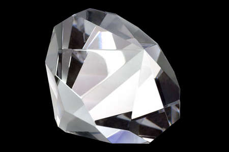 Macro shot of a diamond, isolated on black. Stock Photo - 867824