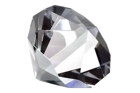 Macro shot of a diamond, isolated on white. Stock Photo - 870346