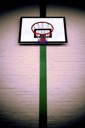 cross processed: Basketball ring and backboard, cross processed for a gritty grunge look. Stock Photo