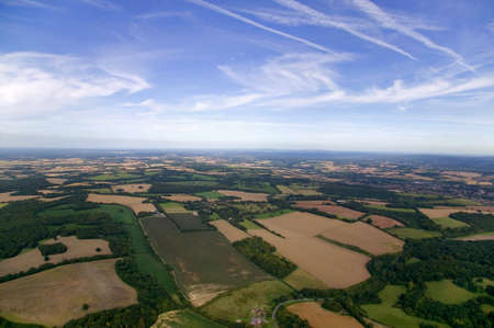 hampshire: Ariel paisaje foto de Hampshire, Inglaterra.
