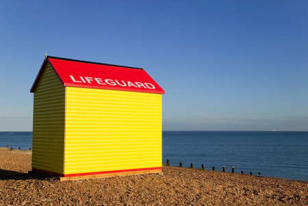 Lifeguard station on a beach at sunrise. Stock Photo - 1491110