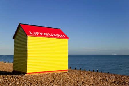 Lifeguard station on a beach at sunrise. Stock Photo - 1491110