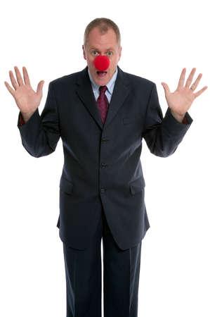 payaso: Empresario que llevaba una nariz de payaso.