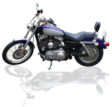 Custom motorcycle on a white background. Stock Photo