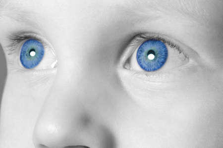 Close up of a child's eyes. photo