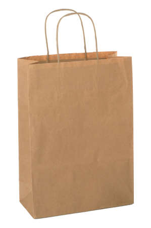 commercial recycling: Shopping bag made from brown recycled paper. Add your own design or logo.