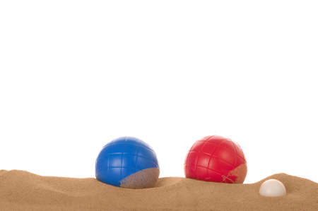 boules: Beach boules in the sand.