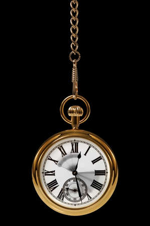 Gold pocket watch with motion blur on the hands to convey the passing of time. photo