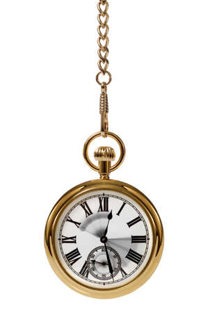 hands in pockets: Gold pocket watch with motion blur on the hands to convey the passing of time.
