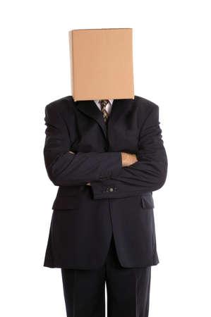 anonyme: Homme daffaires anonyme avec ses bras pli�s. Banque d'images