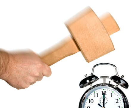 Concept image for turning off the alarm clock in the morning. Stock Photo - 2520639