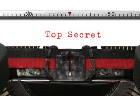 typescript: Top Secret on an old typewriter in genuine typescript.
