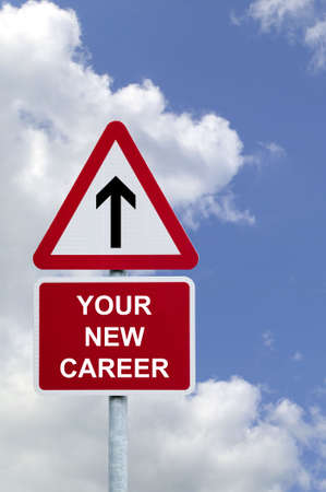 Sign in the sky for Your New Career , concept image for employment related themes. photo