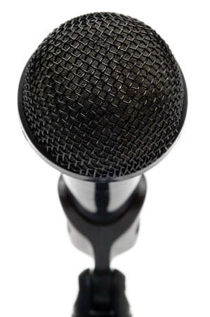 Close up of a microphone isolated on a white background. Stock Photo - 4032285