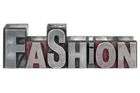 The word Fashion in old letterpress printing blocks isolated on a white background. Stock Photo - 4145676