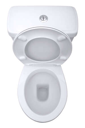 Toilet from above, isolated on a white background photo