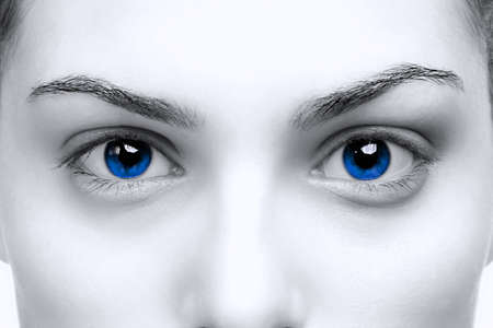 Beautiful female with bright blue eyes, color toned. Stock Photo - 5663018