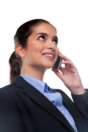 Businesswoman chatting on her mobile phone photo