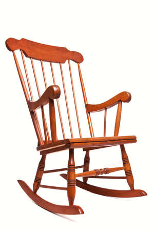 rocking: Photo of a Rocking chair isolated on a white background Stock Photo