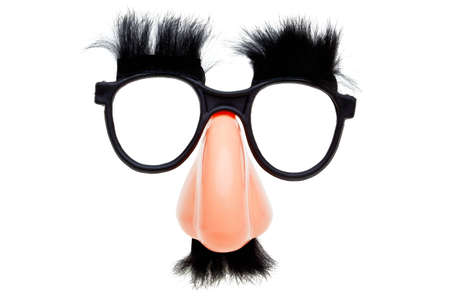 the novelty: Photo of a pair of novelty glasses isolated on a white background