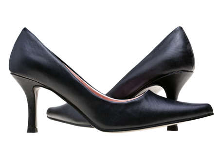 Photo of ladies black high heel shoes, isolated on a white background. Stock Photo - 7971521