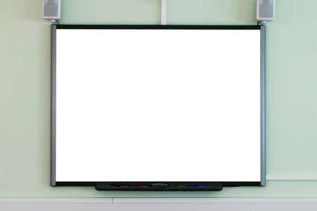 Un tableau blanc interactif vide pour ajouter votre propre image ou un texte