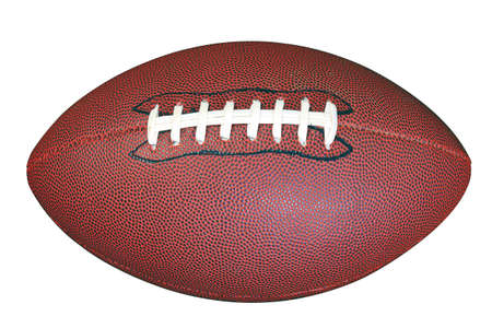football object: An American football isolated on white background with clipping path done using pen tool.