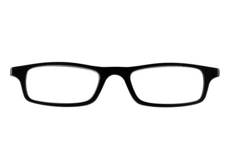 spectacle: Photo of Black female spectacle frames the type of glasses nerds wear, isolated on white Stock Photo
