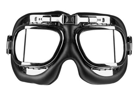 Photo of flying goggles isolated on a white background  photo